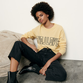 Sandro Wool and cashmere sweater with message