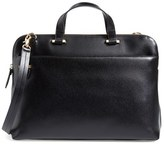 Lodis Medium Jamie Rfid Leather Briefcase - Black