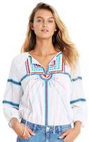 Seafolly Geo Tribal Embroidered Top