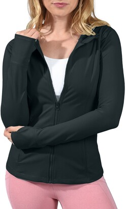90 Degree By Reflex Slim Fit Hooded Jacket