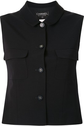 Chanel Pre Owned Flap Pockets Buttoned Vest