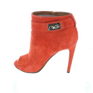 Givenchy \N Red Suede Ankle boots