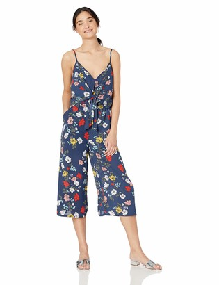 Jack by BB Dakota Women's Garden My French Printed CDC tie Front Jumpsuit