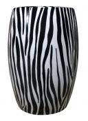 BIDKhome Zebra Ceramic Stool BIDKhome