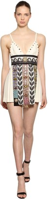 Fausto Puglisi Embellished Wool Crepe Dress