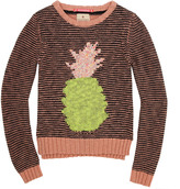 Scotch & Soda Black and peach pink striped sweater (125667)