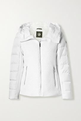 Fusalp Roxane Hooded Quilted Down Ski Jacket - White