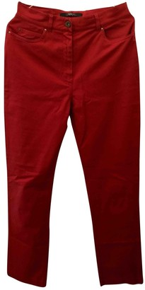 Max Mara Red Cotton Trousers