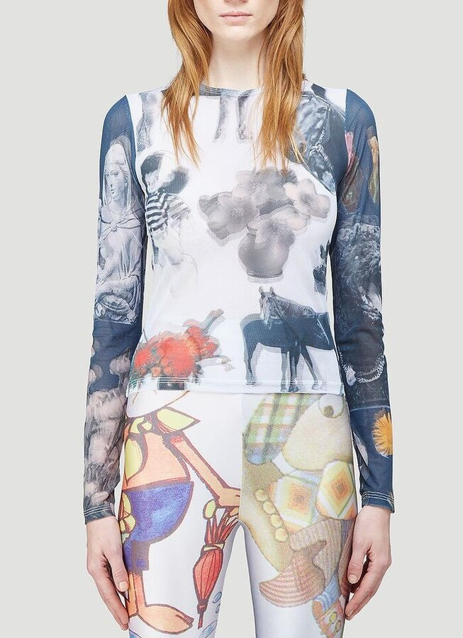 Thumbnail for your product : Chopova Lowena Graphic Print Long-Sleeve Top