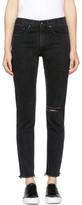 Rag & Bone Black High-rise Skinny Jeans