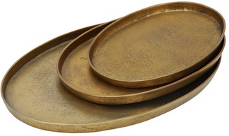 Pols Potten Antique Brass Set 3 Oval Trays