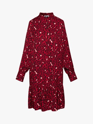 Gerard Darel Thalie Leopard Print Dress, Red