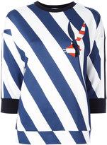 Iceberg diagonal stripes sweatshirt - women - Polyester/Spandex/Elastane/Viscose - 38