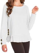 Neon Buddha Cape Side Shirt - Stretch Cotton, Long Sleeve (For Women)
