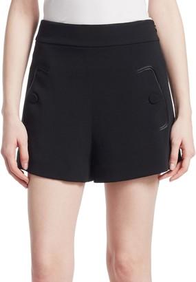 Derek Lam High Waist Crepe Shorts