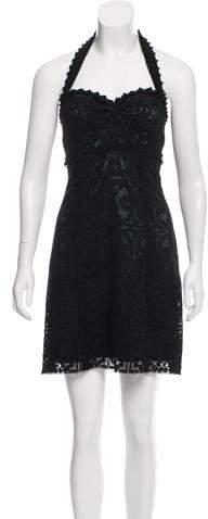 Dolce & Gabbana Crochet Lace Halter Dress