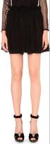 Alexander McQueen Pleated silk-blend mini skirt