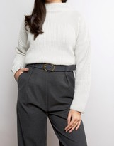 Asos Reversible Oval Buckle Waist And Hip Belt