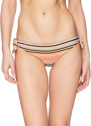 RVCA Junior's Horizon Stripe Reversible Cheeky Bikini Bottom
