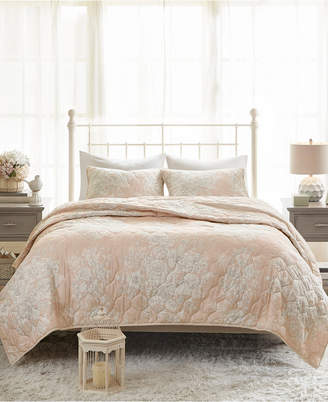 Madison Home USA Gloria King/California King 3-Pc. Cotton Printed Reversible Quilted Coverlet Set Bedding