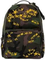 Valentino Zandra Rhodes Stars Camo Backpack