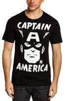 Logoshirt Logo Shirt Men's Marvel - Captain America - Portrait Loose Fit| Round Collar Short Sleeve Casual Shirt,20 (Manufacturer Size:)