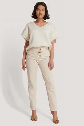 Trendyol Front Button Mom Jeans