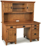Asstd National Brand Constance Pedestal Desk with Hutch