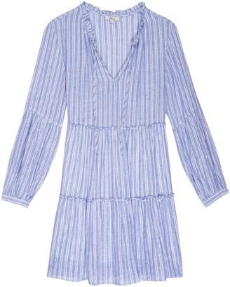 Rails Blue & White Ludlow Stripe Everly Dress - Extra Small (UK 8) | rayon | blue | white stripes - Blue/Blue