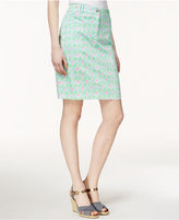 Charter Club Diamond-Print Skort, Only at Macy's
