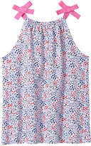Joe Fresh Kid Girl's Floral Halter Tank, White (Size M)