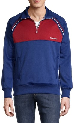 Ben Sherman Zip-Neck Colorblock Pullover