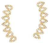 BaubleBar Pave Crystal Droplet Ear Climber Earrings