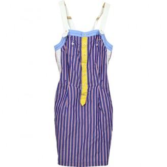 DSQUARED2 Blue Cotton - elasthane Dresses