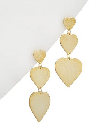 Alanna Bess Limited Collection 14K Over Silver Heart Earrings
