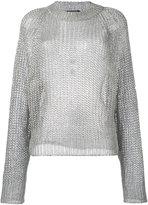 Balmain open knit jumper - women - Polyamide/Polyester/viscose - 38