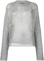 Balmain open knit jumper - women - Polyamide/viscose/Polyester - 36