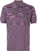 Missoni multi-stripe polo top