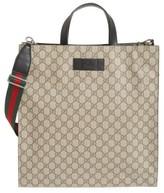 Gucci Men's Web Strap Tote - Beige