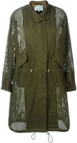 3.1 Phillip Lim perforated trench coat - women - Silk/Cotton/Viscose - S