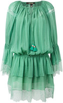 Roberto Cavalli lace trim beach dress - women - Silk/Cotton - 38