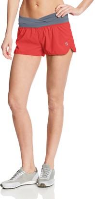 Soffe Women's Juniors Fashion Band Short cayenne/trade winds Small