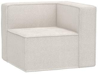 Pottery Barn Teen Oversized Cushy Corner Chair, Sherpa Ivory, In-Home