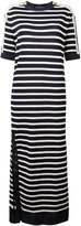 Alberta Ferretti Breton stripe lace dress - women - Cotton/Polyamide/Rayon/other fibers - 40