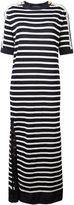 Alberta Ferretti Breton stripe lace dress