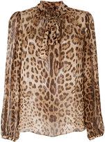 Dolce & Gabbana leopard print blouse - women - Silk - 44