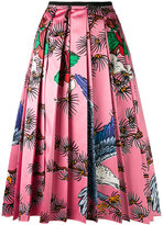 Gucci floral print pleated skirt - women - Silk/Cotton/Viscose - 40