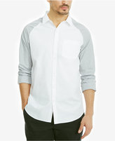 Kenneth Cole Reaction Men's Pocket Raglan Cotton Shirt