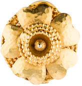 Celine Flower Clip On Brooch