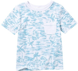 Joe Fresh AOP Slub Jersey Palm Tree Print Pocket T-Shirt (Toddler)